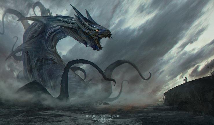 liste des animaux fantastiques marins creatures mythologiques leviathan