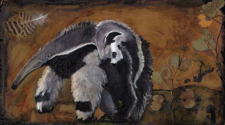 tamanoir fourmilier toile peinture perrine crosmary