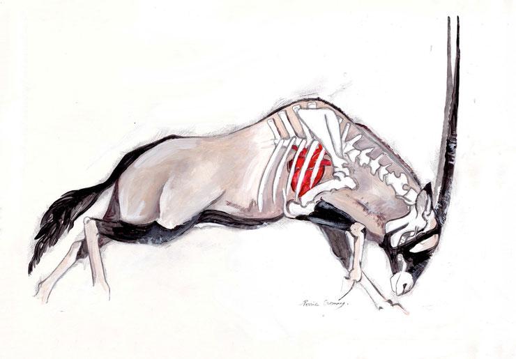 toile peinture perrine crosmary oryx gazelle