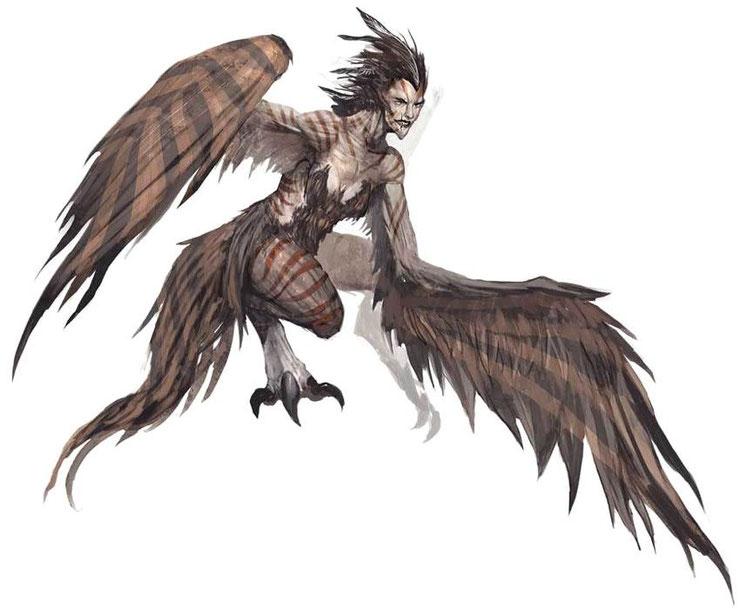 liste des animaux fantastiques et creatures legendaires harpie