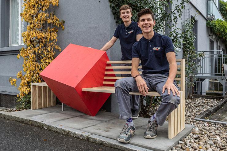 Janick Portmann (stehend), Timo Bucher (sitzend) – Foto Oliver Gutfleisch