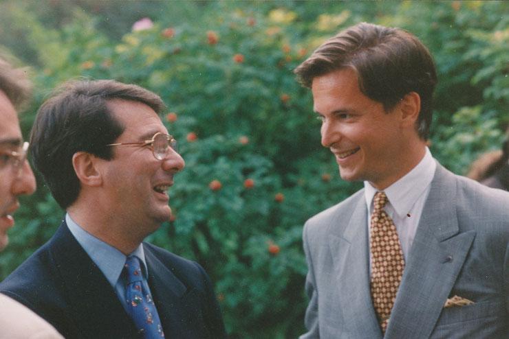 Gerard Mortier und Carl Grouwet, Salzburg 26.08.1993