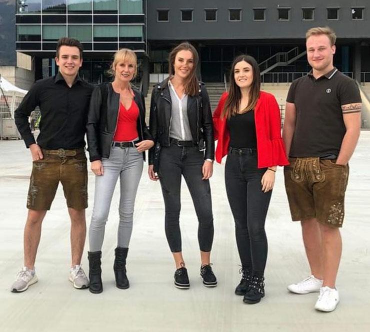 Jakob Baumann, Sonja Baumann, Nora Baumann und Tabea Baumann