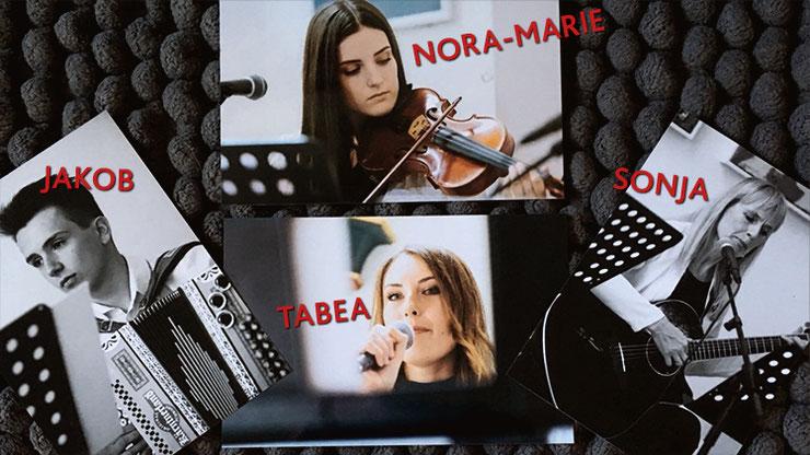 Jakob, Nora-Marie, Tabea und Sonja Baumann