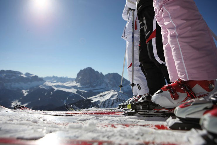 Grenzenloses Skivergnügen am Reschenpass. © smg/Alessandro Trovati