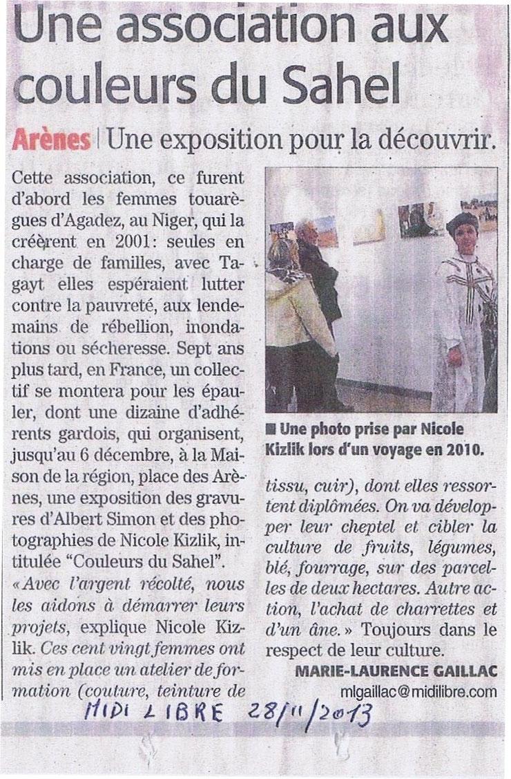 TAGAYT - Midi Libre 28.11.2013