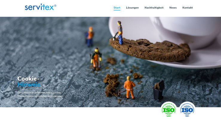 Quelle: Screenshot Servitex Homepage durch R+W Textilservice