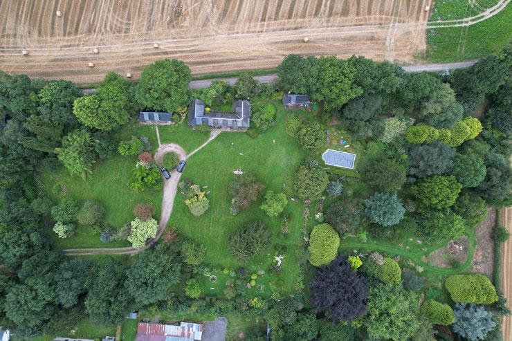 Vue d'ensemble. Photo prise par drone le 18 août 2021