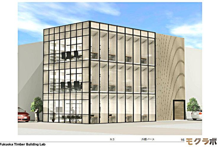九州経済連による木造による「福岡3階建てビル」