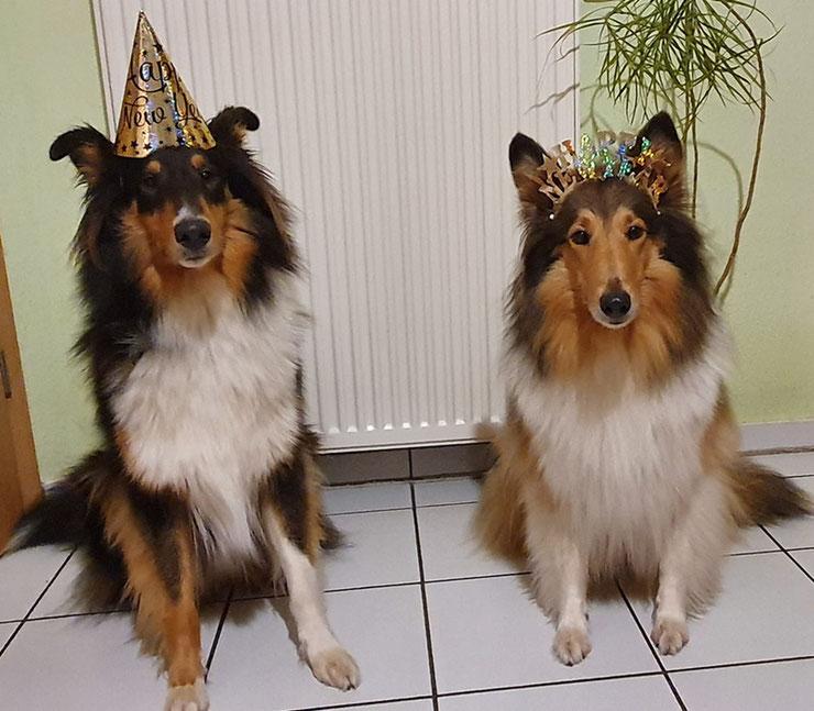 Enni & Calina stehen wieder in den Startlöchern für die Silvesterparty - natürlich im kleinsten Kreis, wie man sieht ♥♥