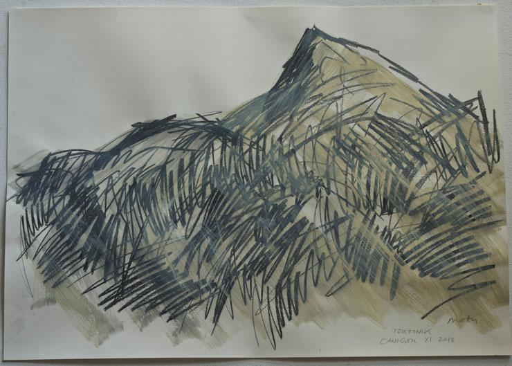 canigou  /  pyrenées  2013    graphite  crayon  gouache  on paper    50  x  70   cm