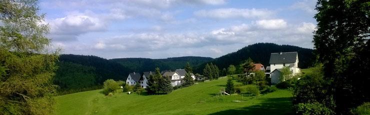 Gehlberg, Blick auf Zahme Geratal