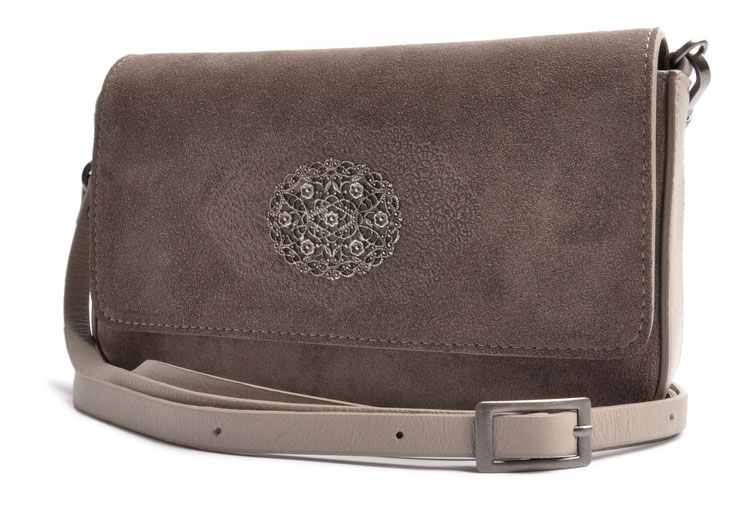 Trachtentasche Clutch in grau . Dirndltasche . Crossovertasche . OSTWALD Traditional Craft