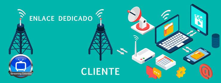 Ilustración del servicio Streaming Colombia Conectividad con la provisión de canales y/o enlaces dedicados de Internet para eventos y streaming