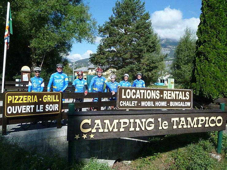 """Vor der Abschlußtour auf unserem Campingplatz """"Le Tampico"""" in Barcellonette"""