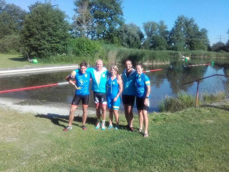 Die Starter für den Radtreff Biberach: Lennart, Steff, Sandra, Fred und Jule (auf Bild fehlt Jochen)