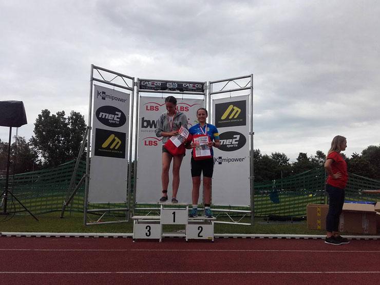 2. Platz für Jule Fiederling auf der Sprintdistanz beim Erbacher Triathlon 2016