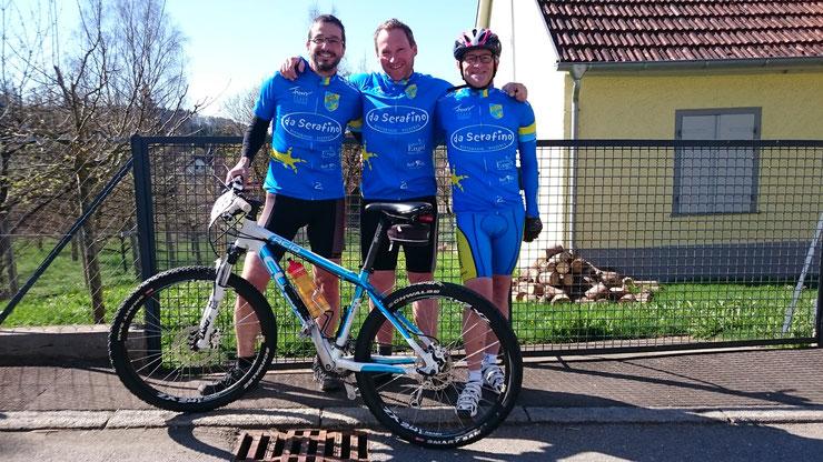 Veringendorf, 19.04.2015 - Radtreff-Biberach mit 3 Teilnehmern beim MTB-Rennen erfolgreich