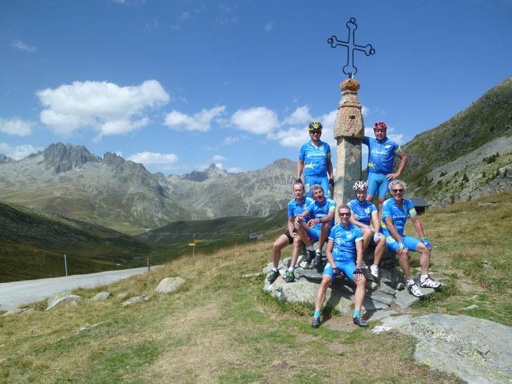 Tour Col de Glandon / Col de Croix de Fer / Col de Mollard (Gruppe Erich, Anton, Charly, Martin, Sandra, Steff, Klaus)