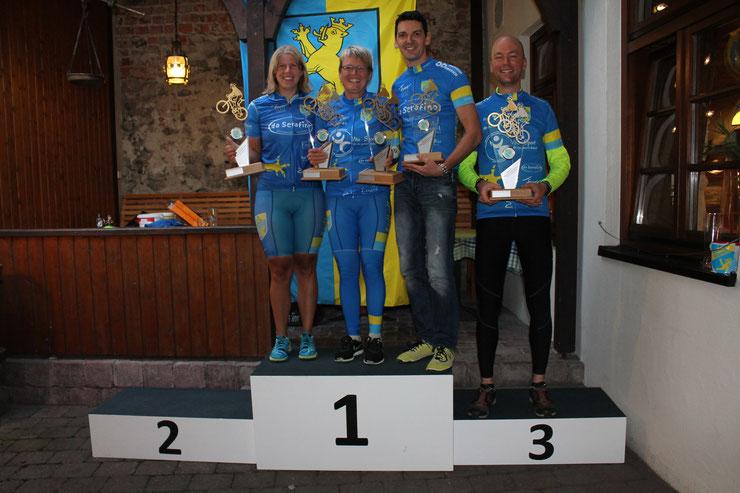 Sandra (Damen+2er-Damen), Silvia (2er-Damen + Mixed), Jochen (Herren, 2er-Herren, Mixed), Markus (2er-Herren)