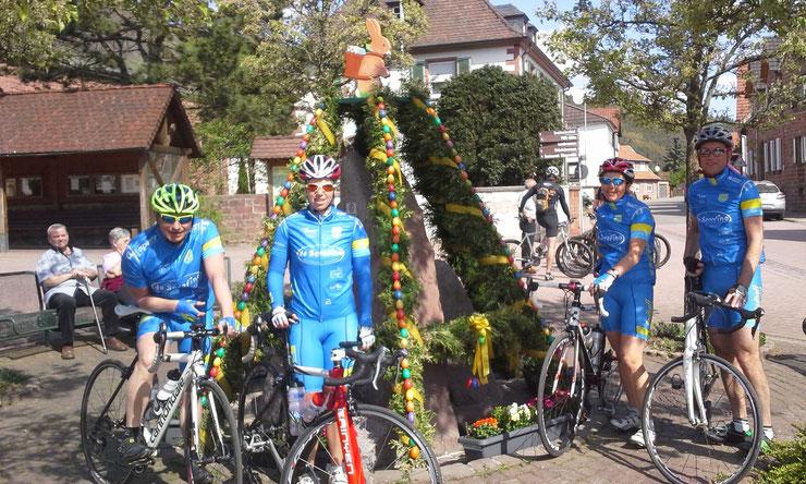 ... auch schon an Ostern 2014 waren wir mit dem Radtreff in der Pfalz ...