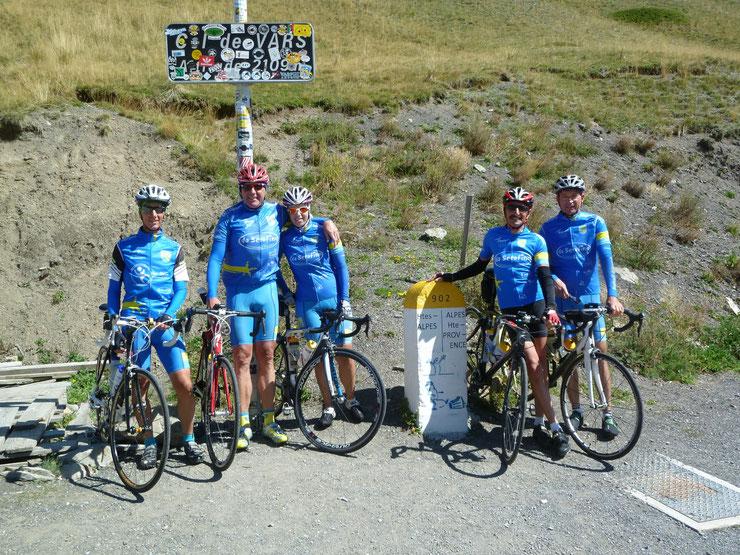 Abschlußfahrt am Samstag auf dem Col de Vars. Mit Kaiserwetter werden wir aus Frankreich verabschiedet.