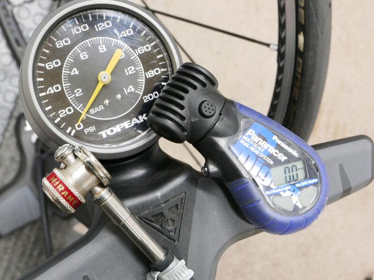ツインターボ、ヒラメポンプヘッド、デジタル空気圧計