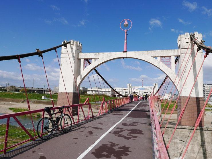 ロードバイクで玉手橋