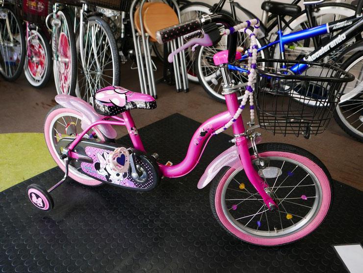 16インチのミニーちゃんの自転車