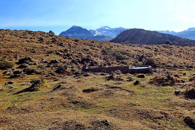 Un abreuvoir sur le Plateau.