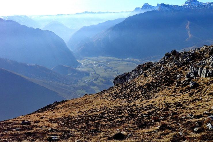 Mais avec une superbe vue sur la Vallée d'Aspe.