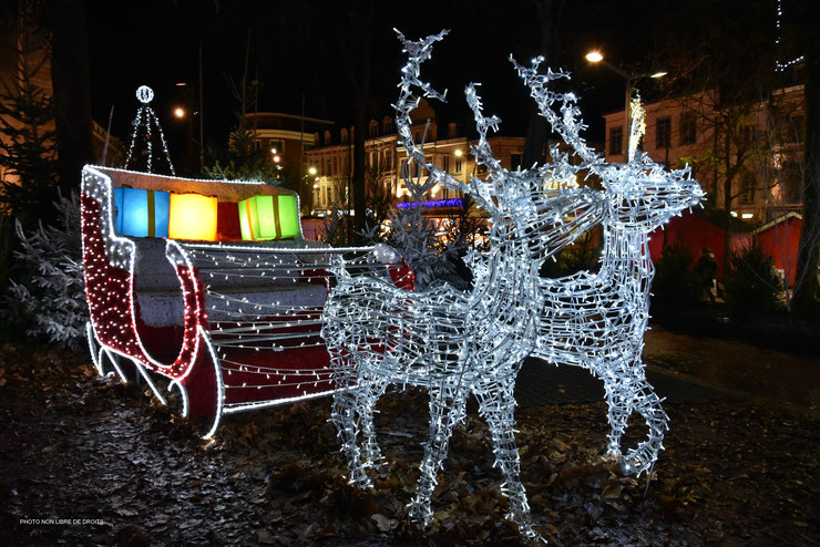 Traîneau du Père Noël, Amiens, photo non libre de droits