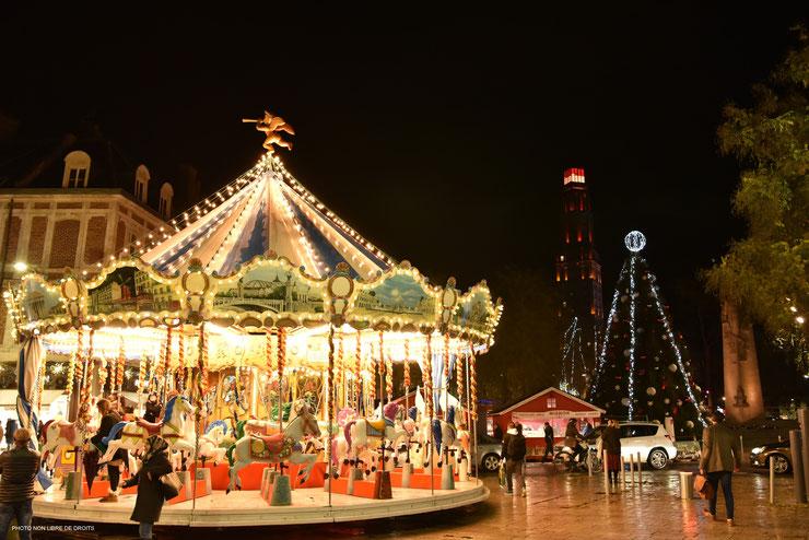 Illuminations à Amiens, photo non libre de droits