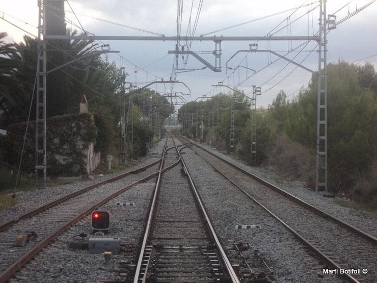 2 - Sitges salida vía muerta lado Vilanova i la Geltrú
