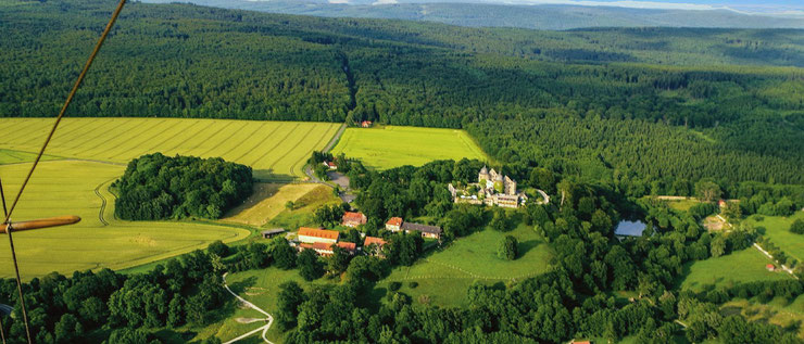 Reinhardswald von oben - ein zusammenhängendes Waldgebiet von großer Schönheit