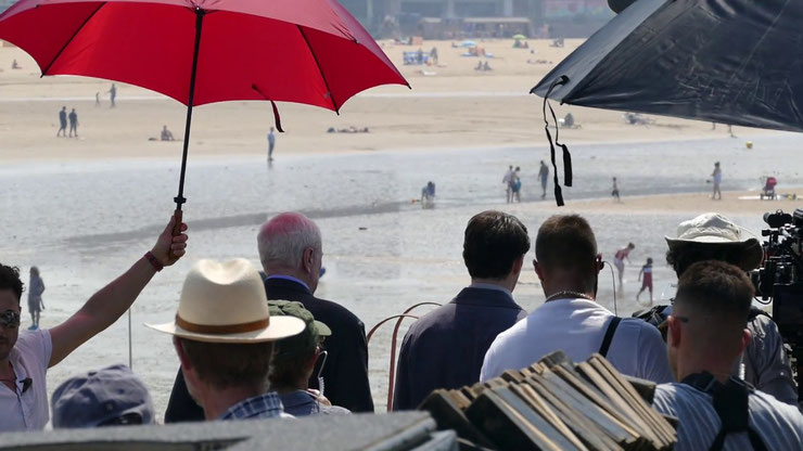 King of Thieves film royalty on Margate seafront