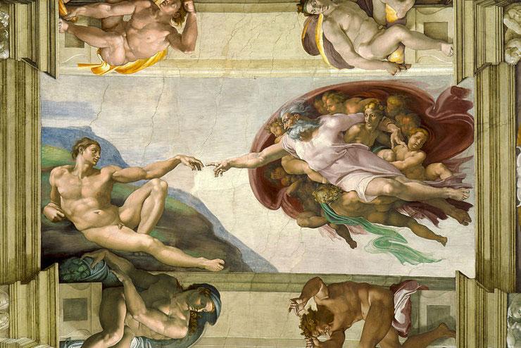 """Michelangelo Buonarroti, """"Creazione di Adamo"""""""