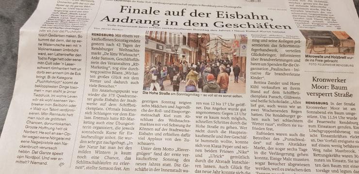"""Quelle: 06.01.2020 """"shz""""(Schleswig-Holsteinische Landeszeitung)"""