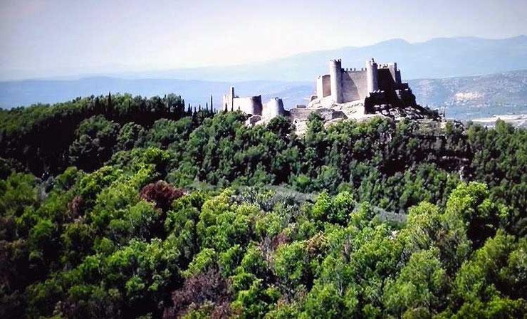 Castillo de Xivert en el Maestrazo de Castellón de la Comunidad Valenciana.
