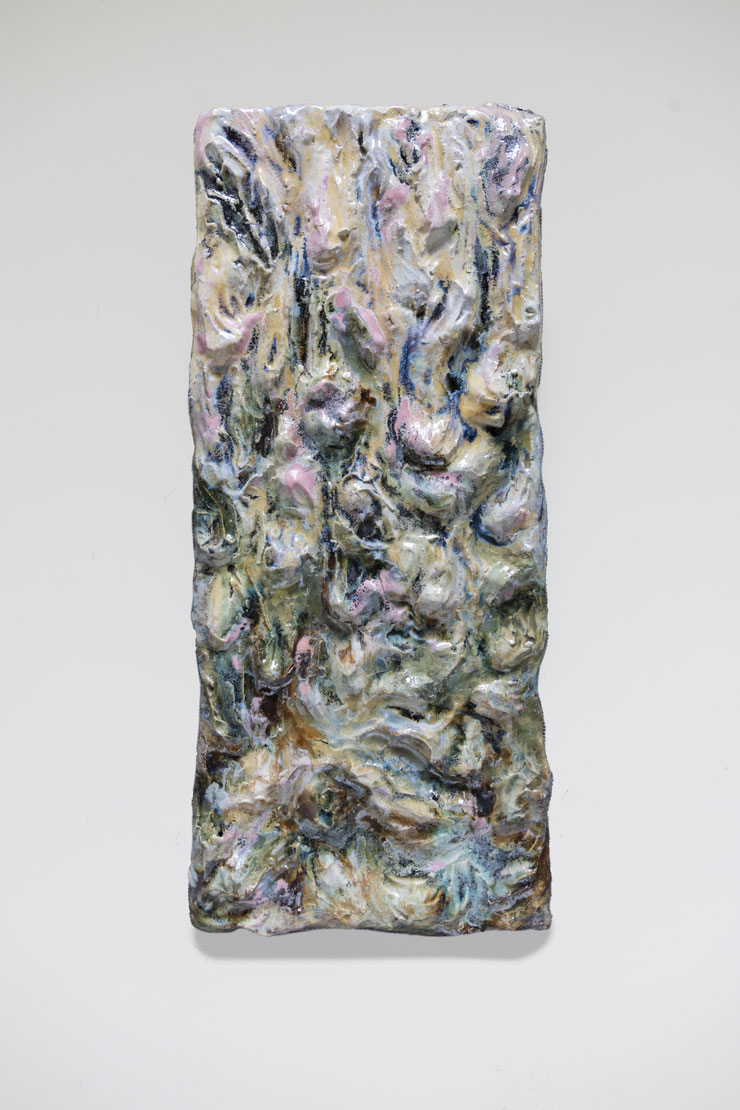 Sensing the Landscape, 2021, ceramics, glazes, 1,82 x 43 cm