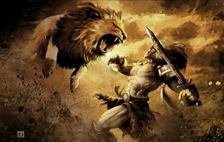 liste des animaux fantastique myhtologie grecque  lion de némée contre hercule