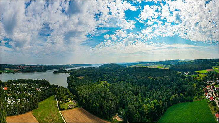 Muna-Wald Brombachsee und Panoramablick Richtung Osten