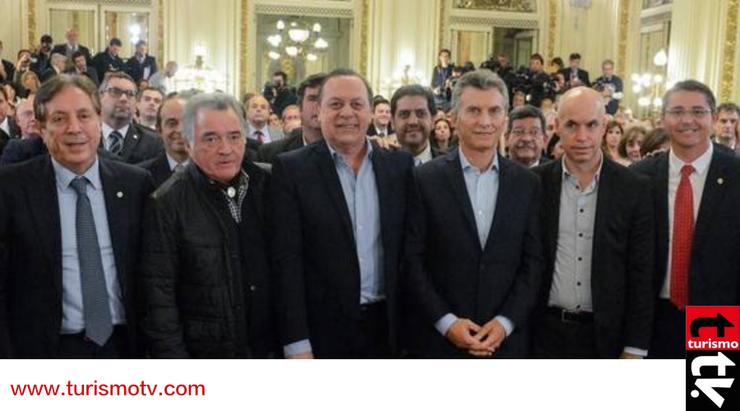 Mauricio Macri, Luis Barrionuevo, Gustavo Santos, Horacio Rodriguez Larreta,