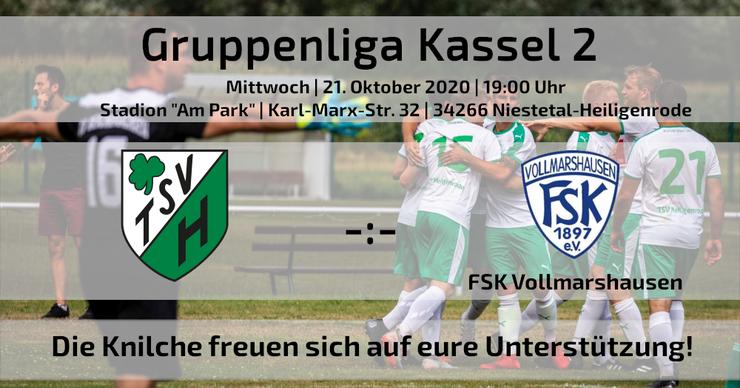 Gruppenliga Kassel TSV Heiligenrode FSK Vollmarshausen Fußball