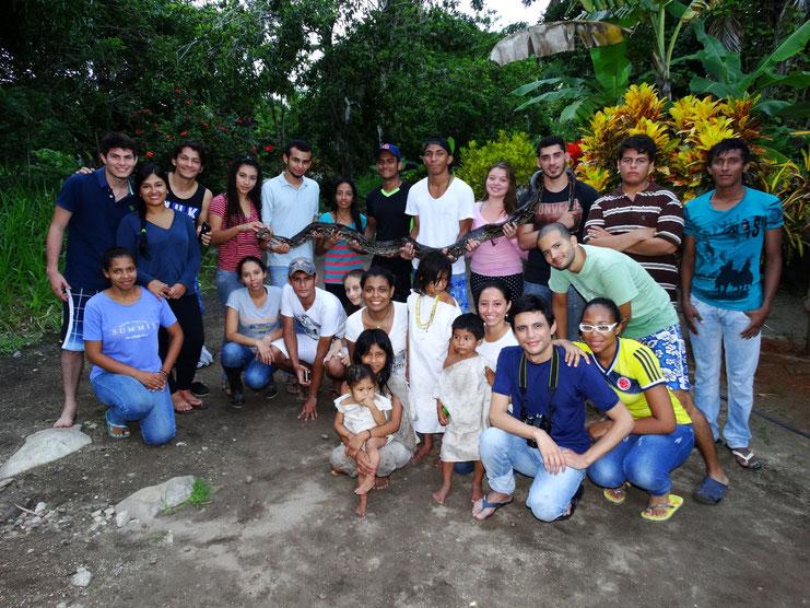 Estudiantes Herpetología Básica (2015-2)