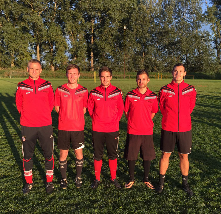 v.l.: Trainer Dominique Stellmacher, Christian Heneka, Co-Trainer Christopher Heneka, Benny Lehmann und Dominik Dittes
