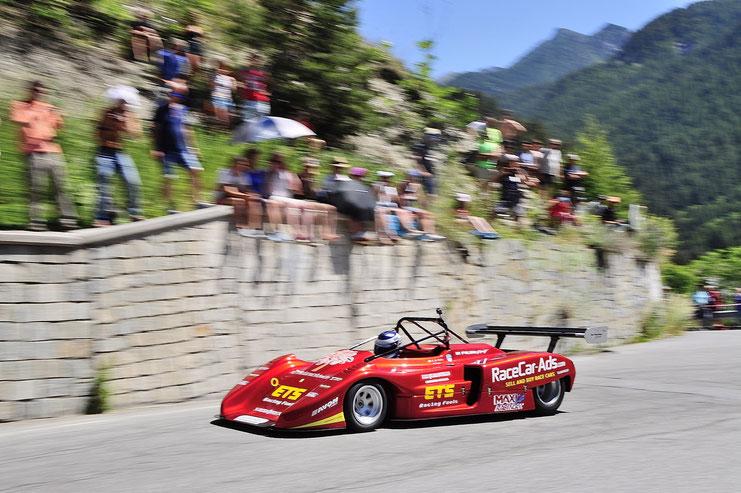 Stefano Di Fulvio al volante della sua Osella PA9/90 in prova alla Cesana Sestriere