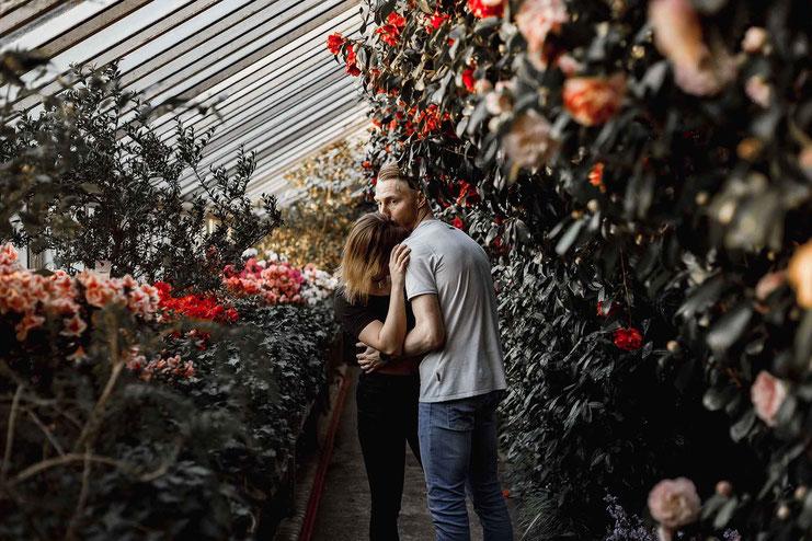 Pärchenfotos im Botanischen Garten Berlin