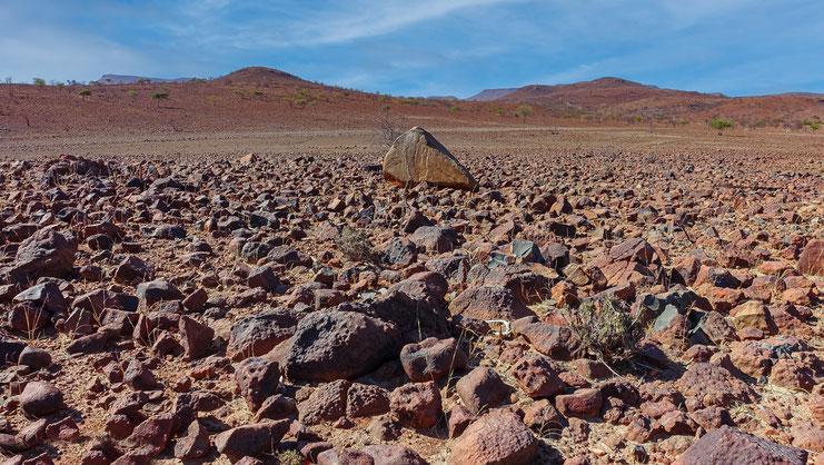 Paysage rouge pétrifié, Damaraland, Namibie