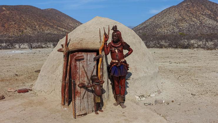 "Femmes du peuple ""ocre"", Namibie"